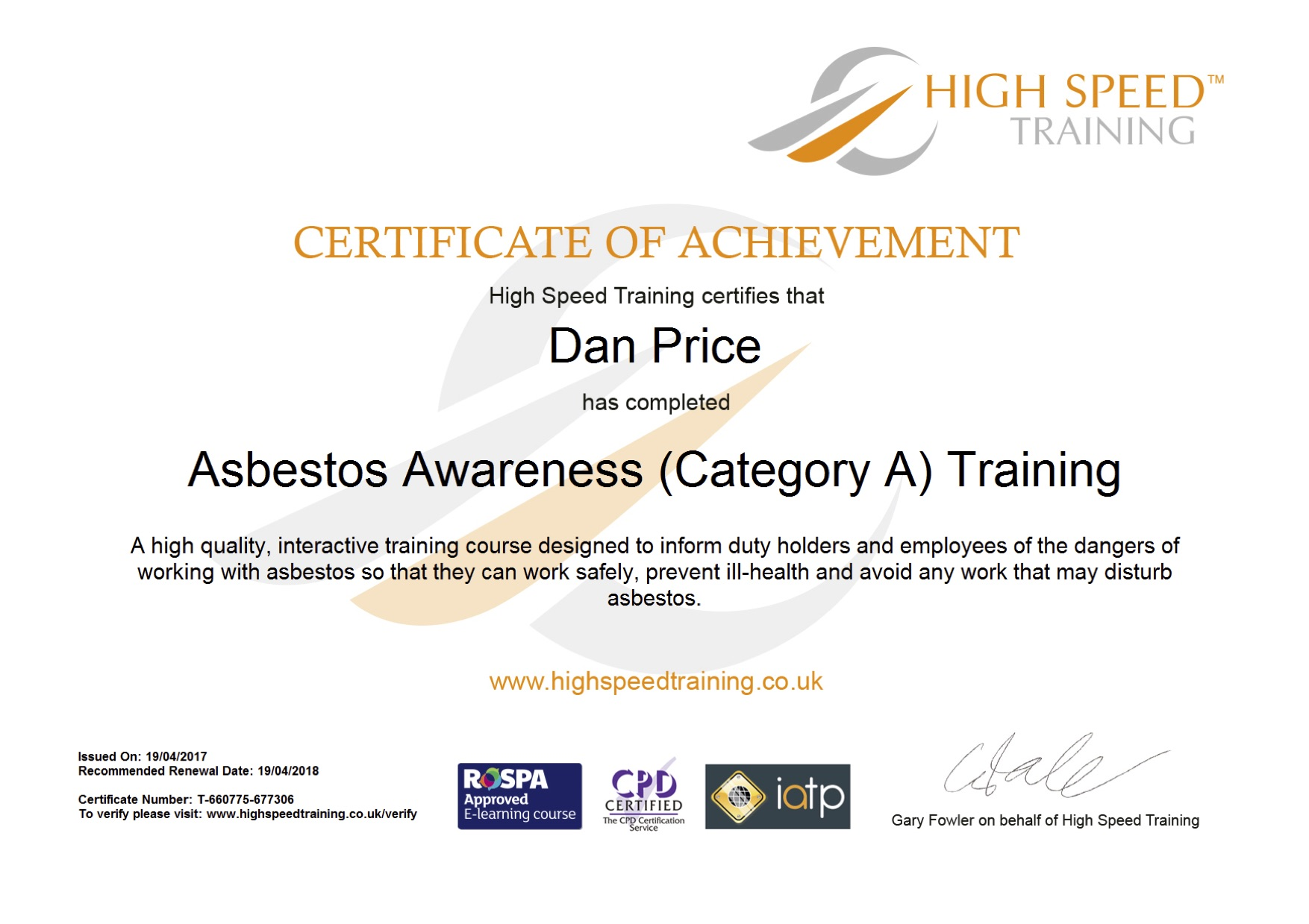 Asbestos awareness certificate template gallery templates cpd certificate template image collections templates example best of images of cpd certification business cards and xflitez Gallery