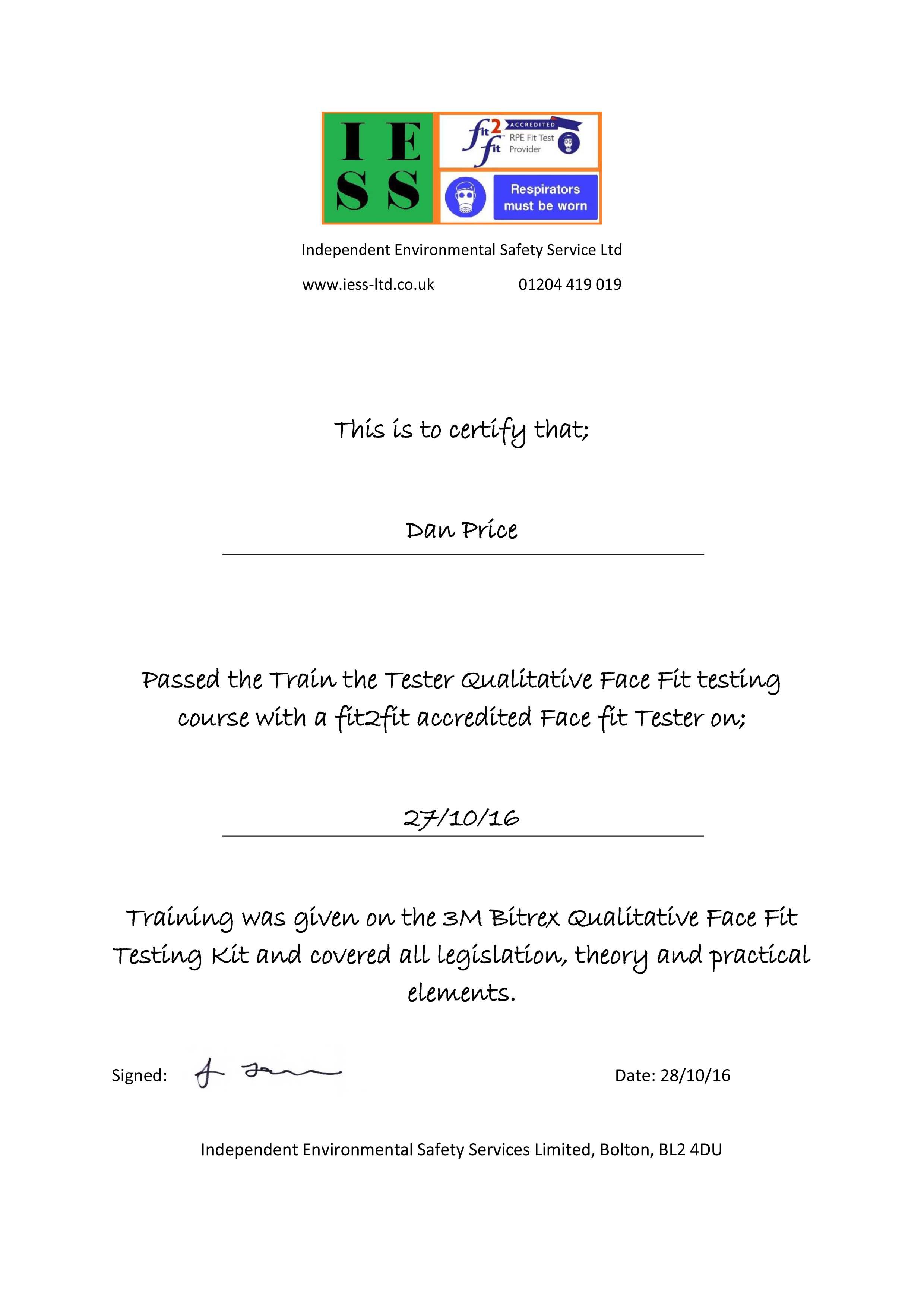 TTT Certificate